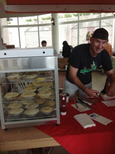 Co-owner Mike Noakes serves up Humble Pies at Dartmouth
