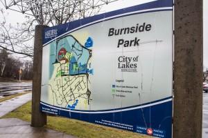 Map of the Burnside Industrial Park