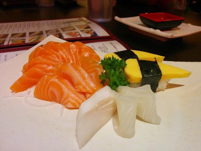 sashimi and nigiri