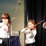 Leo & Rose Hanada and Madoc Sullivan competing at the 2014 Maritime Fiddle Festival