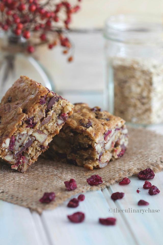 cranberry oat bars
