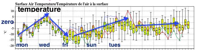 40 model temperature meteogram