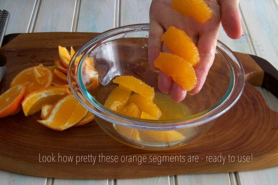 oranges segmented