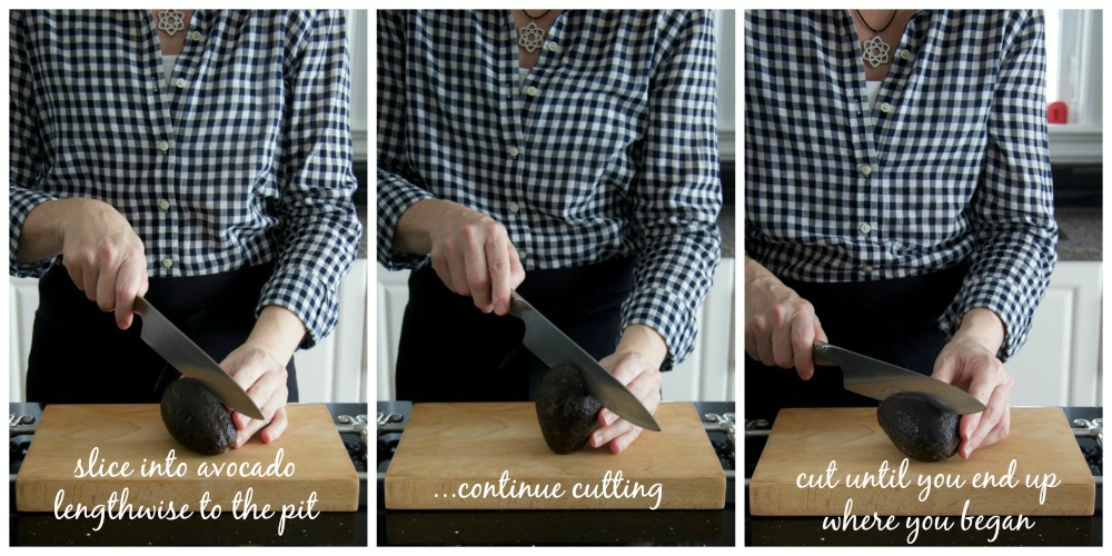 How To Cut an Avocado collage