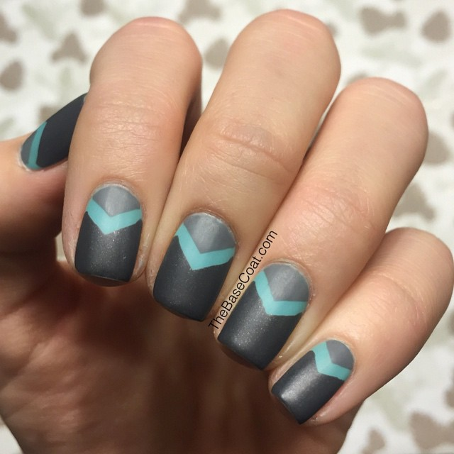 Matte chevrons moons! ??I always like mattifying my manis during the first few months of the year. I have no idea why.. Anyways, for this mani I used @essiecanada Where