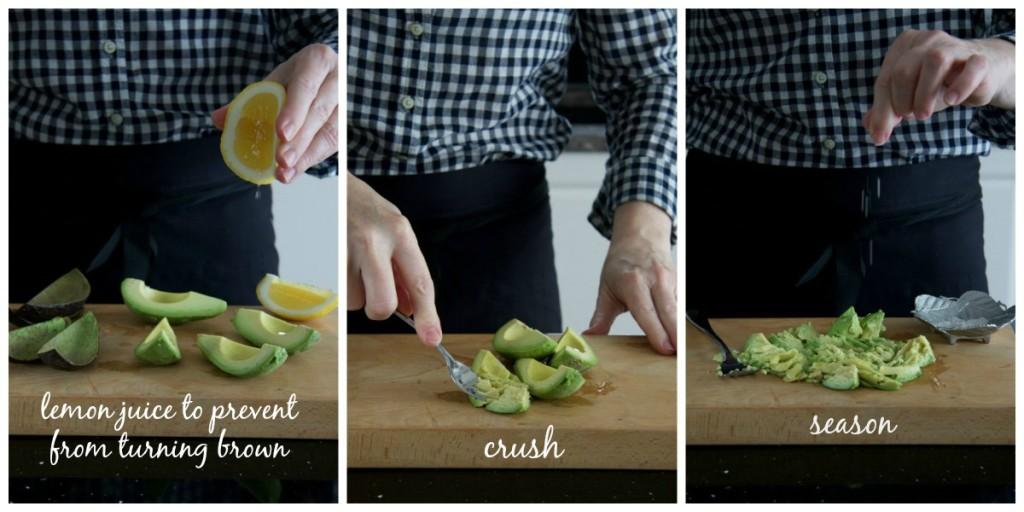 crushed & seasoned avo