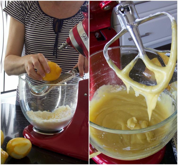 olive oil cake Collage