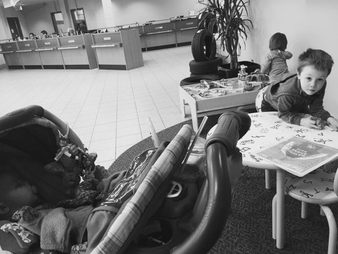 Kids Waiting at Car Dealership | Mommy Miracles