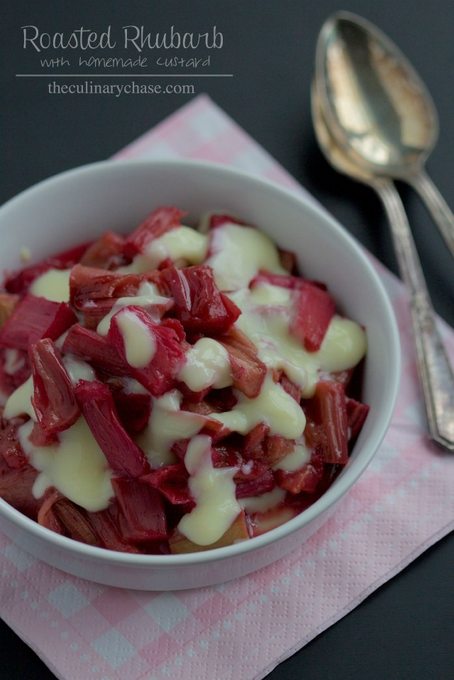 roasted rhubarb by The Culinary Chase
