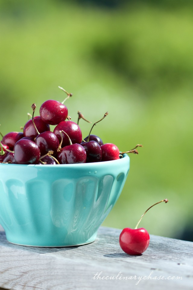 bowl of cherries by The Culinary Chase