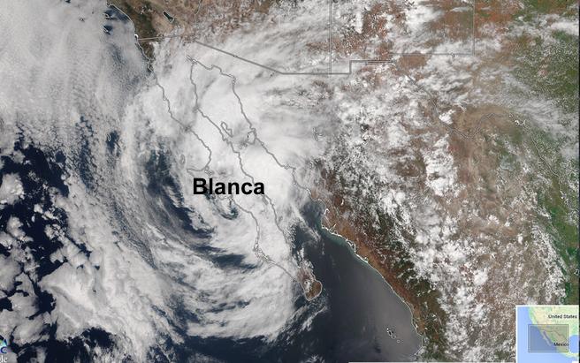 Post tropical cyclone Blanca