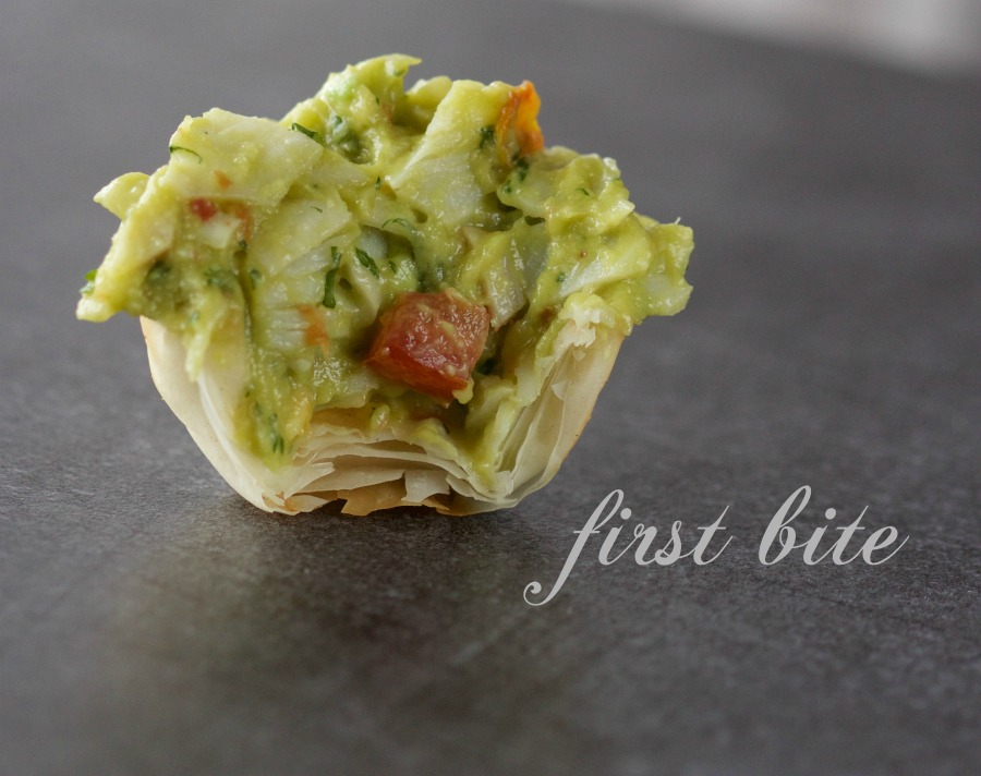 crab phyllo cup