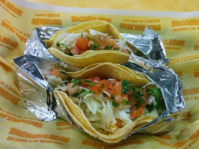 Taco Del Mar specializes in fish tacos - $5 for two on Fridays