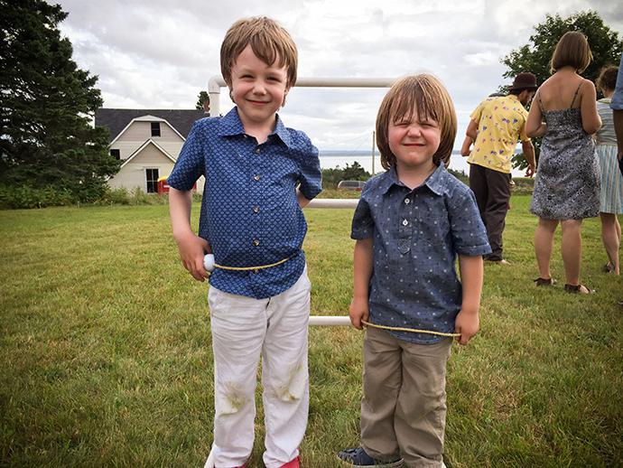 Cameron and Gavin at Wedding