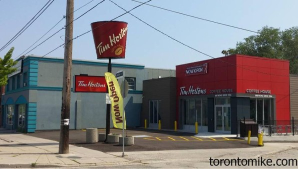 Meanwhile in Toronto, Tim's took over a an Old KFC and decided to keep the bucket.