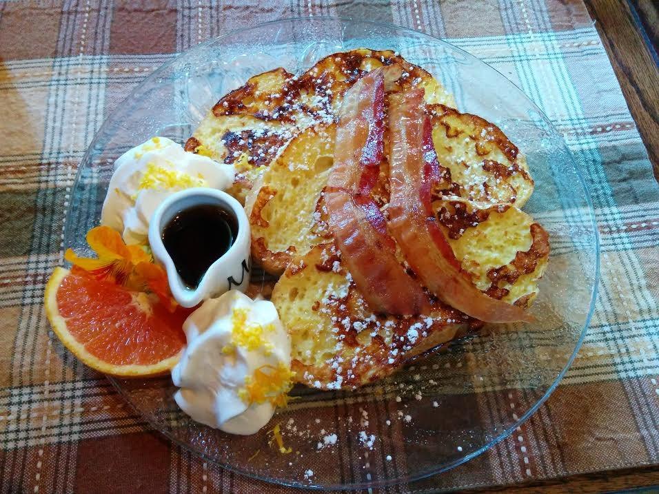 Train Station Inn orange Acadien french toast