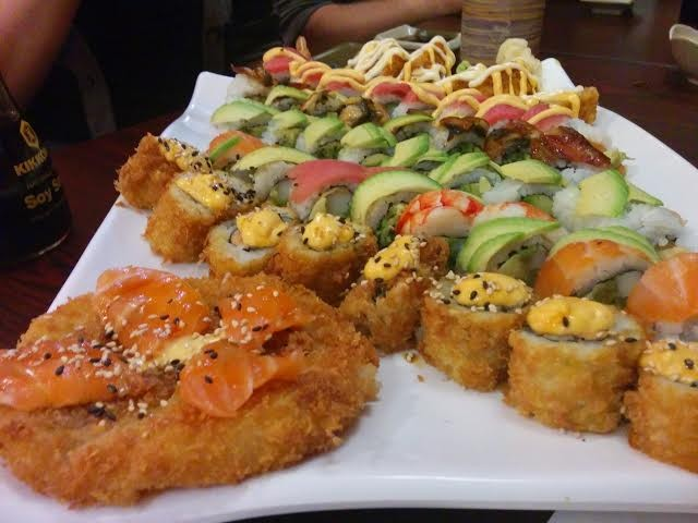 Sushi Pizza and Rolls at Wasabi Asian Cuisine