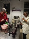 filling jars with beets and vinegar brine