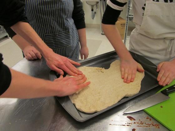 working dough