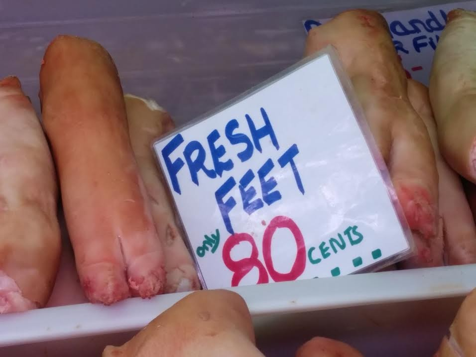 Cork old english market pigs feet