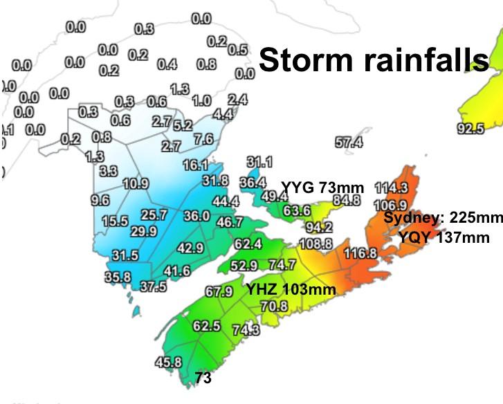 Storm Rainfalls