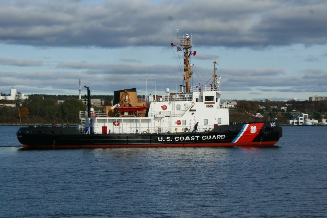 USCGC Bristol Bay departs for the Great Lakes