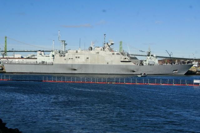 USS Detroit Sails.