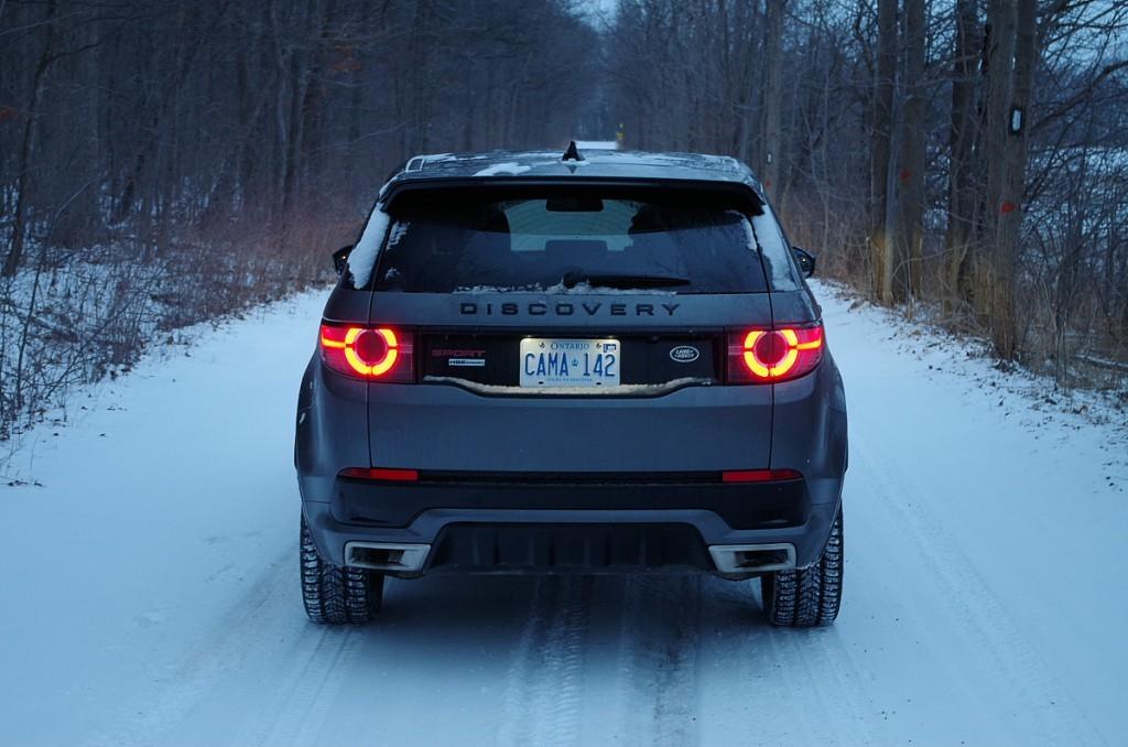 rear snowy road