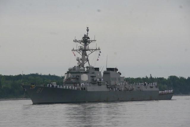 USS DWIGHT D EISENHOWER Battle Group Arrivals.