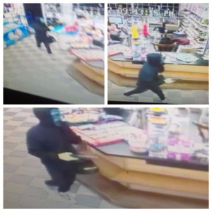 Masked robbery suspect