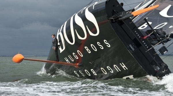 Alex Thomson and Hugo Boss IMOCA 60 at RNSYS