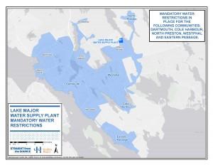 Lake Major water service area map