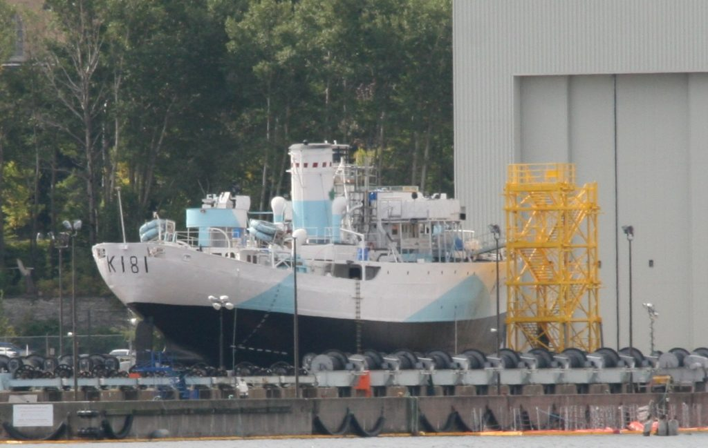 HMCS Sackville Re-Launching Today